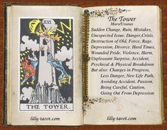 The Tower meaning - Ruin, Mistakes, Crisis. The Tower Tarot Meaning, The Tower Tarot Card, Tarot Interpretation, Divine Tarot, Tarot Cards For Beginners, Tarot Major Arcana, Season Of The Witch, Tarot Card Meanings, Affirmation Cards