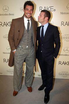 David Gandy (left), style!