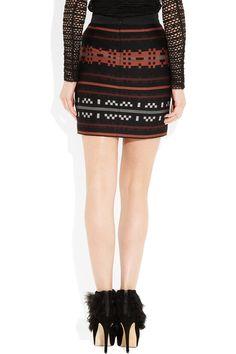 Proenza Schouler. Intarsia wool-blend mini skirt. $675