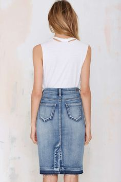 Blank NYC Cry Baby Denim Skirt