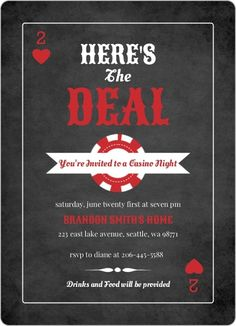 Casino invitations - Google Search