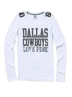 6bef4d1e73e4f Victoria's Secret Pink Dallas Cowboys Long-sleeve Football Tee-best combo  ever in clothing!