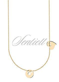 Drobny acz elegancki Gold Necklace, Jewelry, Gold Pendant Necklace, Jewlery, Jewerly, Schmuck, Jewels, Jewelery, Fine Jewelry
