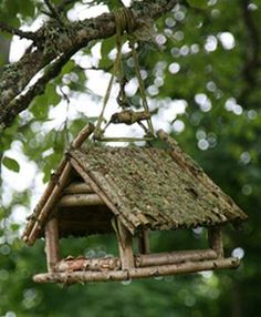 a whole bunch Rustic Bird Feeders ideas (no how too)