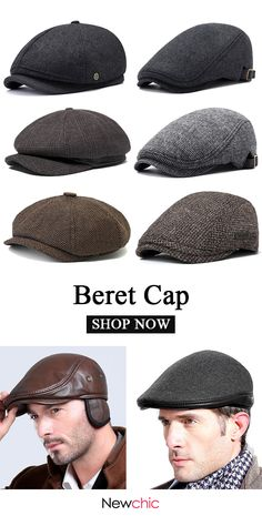 men watches - Beret Caps Newchic com mens caps beret Mens Dress Hats, Men Dress, Mens Style Guide, Men Style Tips, Mens Newsboy Hat, Frugal Male Fashion, Modern Mens Fashion, Look Man, Mens Caps