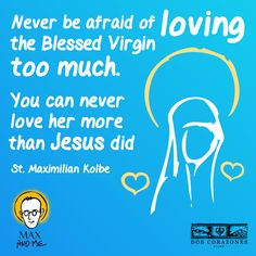 St. Maximilian Kolbe teaches us to love the Blessed Virgin <3