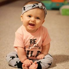 Cute kid alert! #imean #literallyicant #noliterally #icant // Sweet lady's Little Wild tee is a part of our year end sale on www.LittleAdi.com - going fast so sizes are limited. #mylittleadi #yearendsale