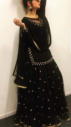 A Completely Last Minute Rakshabandhan Outfit Idea:-Awesomelifestylefashion - terrariumworld Indian Fashion Dresses, Dress Indian Style, Fashion Outfits, Indian Wedding Outfits, Indian Outfits, Sarara Dress, Lengha Dress, Lengha Choli, Anarkali