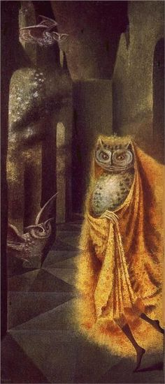 The Philosopher of the Boudoir — Night Fighter by Remedios Varo