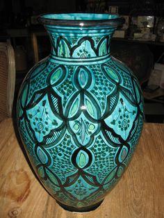 Moroccan Pottery Vase