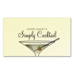 Simply Cocktail Business Card - Martini