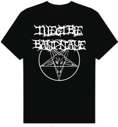 Holy crap I want this!! Black Metal Illegible Band Name TShirt by PrometheusEsoterica, $15.00