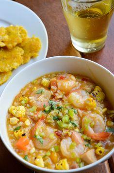 Asopao de camarones (Shrimp & rice stew) - The Petit Gourmet