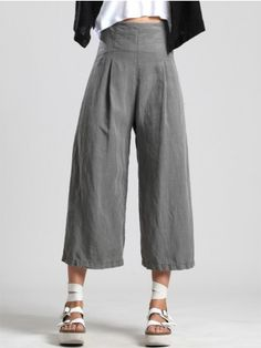 1fe89671ee2 WIDE LEG TENCEL PANTS - JACKETS