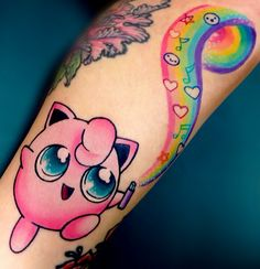 Super cute Pokemon Jigglypuff tattoo.