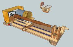 Bench Lathe 3 in 1 (Lathe - Sander - Grinder/Sharpener