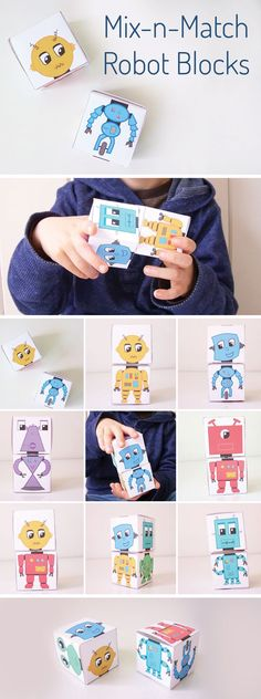 Such a fun robot papercraft! Makes a great creative toy for kids or printable craft for the classroom.