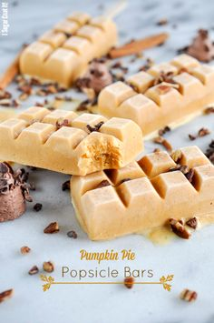 Pumpkin Pie Popsicle Bars