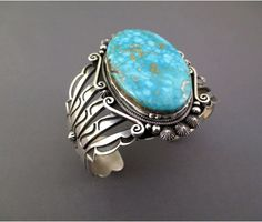 Vogue Crafts & Designs Pvt. Ltd. manufactures Turquoise Stone Thick Silver Cuff at wholesale prices.