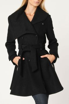Laundry swing wool trench coat $440.00 for $159,00