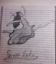 Swan Lake pencil sketch after finishing off an exam. Quite proud of it! Pencil sketch by: Bèa Stark