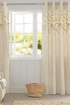 Buy Meadow Embroidered Panel Eyelet Curtains from the Next UK online shop Room Planning, Next Uk, Uk Online, Family Room, Lounge, Curtains, Stuff To Buy, Shopping, Home Decor
