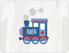 Personalized Train Baby Shirt