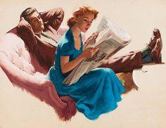Enthusiastic Reader, art by Arthur Sarnoff