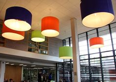 We designed and manufactured these eye-catching, colourful bespoke lampshades for Global Lounge UCD Vintage Tops, Vintage Designs, London Design Festival, Light Project, Lounge, Design Art, Design Ideas, Store Design, Restaurant