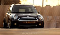 Perfect stance on this Mini Cooper.