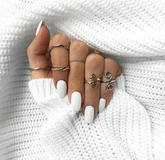 white nails with designs ; white nails with glitter ; white nails with rhinestones ; White Nail Designs, Nail Art Designs, Nails Design, White Nails With Design, Fun Nails, Pretty Nails, Glitter Nails, Nike Nails, Glitter Eye
