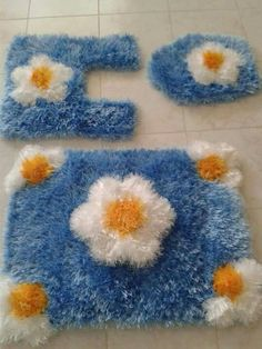 Crochet Doily Diagram, Crochet Doilies, Use E Abuse, Shaggy Rug, Bathroom Sets, Kids Rugs, Rag Rugs, Pictures, Homemade Rugs