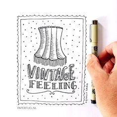 Sure love that vintage feeling #lettering #illustration #paperfuel