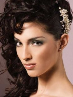 Side Swept Bridal Hairstyles for Long Hiar with Veil Half Up 2013 For short hair indian Half Up Half Down