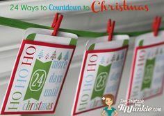 24 Fun Ways to Countdown to Christmas   free printable