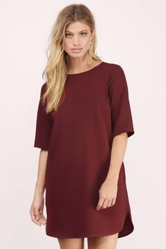 Wine Mad Love Shift Dress at $39 (was $56)
