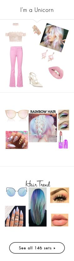 """""""I'm a Unicorn"""" by caroline-buster-brown ❤ liked on Polyvore featuring beauty, Givenchy, Valentino, Accessorize, Oscar de la Renta Pink Label, unicornhair, Matthew Williamson, Estella Bartlett, Golden Goose and Ray-Ban"""