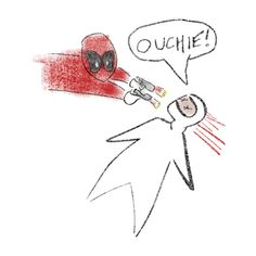 The original Deadpool Drawing Marvel Dc Comics, Marvel Avengers, Comic Art, Comic Books, Deadpool And Spiderman, Spideypool, The Villain, Disney, Nerdy