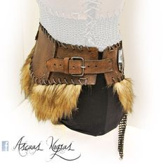 107da6a285a18 Female leather belt with chainmail nordic style. by AscuasNegras Larp  Costumes