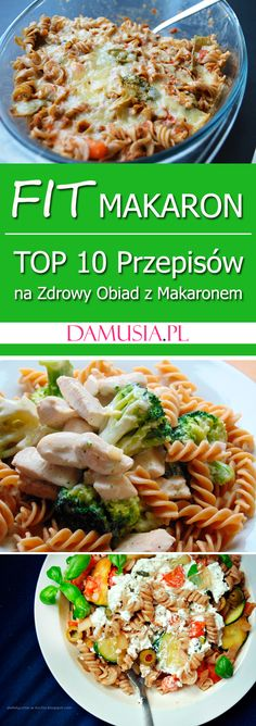 Fit Pasta - TOP 10 Recipes for a Healthy Noodle Dinner - Damusia. Diet Recipes, Vegan Recipes, Pasta Recipes, Going Vegetarian, Healthy Pastas, Aesthetic Food, Food Design, Food Inspiration, Good Food