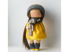 Hello, dear visitors! This is handmade soft doll created by Master Diana Etkind (Moscow, Russia). Doll is 29-31 cm (11.6 inch) tall and made