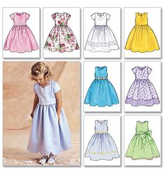 Items similar to Sewing Pattern Flower Girl Dress Pattern, Little Girls' Sunday Dress Pattern, Child's Classic Dress Pattern, Butterick Sewing Pattern 3350 on Etsy Little Girl Dress Patterns, Little Girl Dresses, Girls Dresses, Flower Girl Dresses, Princess Dresses, Flower Girls, Childrens Sewing Patterns, Dress Sewing Patterns, Pattern Dress