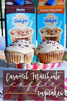 Eat Drink & Be Mary: Caramel Macchiato Coffee Cupcakes Biscuit Cupcakes, Coffee Cupcakes, Cupcake Cookies, Coffee Bar Party, Baking Recipes, Cake Recipes, Rice Krispie Treats, Rice Krispies, Brownie Cake
