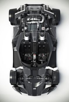 KTM X-BOW engine top view by MUKKELKATZE