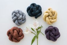 New colors in Sparrow: fundi, penny, maize, moon, and venice. Organic linen. / Quince and Co