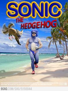 Sonic the Hedgehog. Funny movie poster concept. #funny #sega