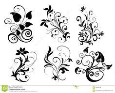 flower simple drawing drawings designs pencil pattern sketch flowers sketches leaves rose google easy patterns floral line drawingartpedia lotus royalty