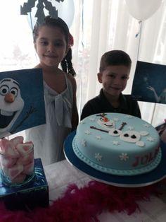 Frozen Birthday Cake, Pottery Party.