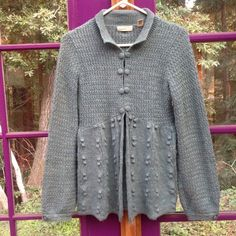 Anthropologie Sleeping On Snow Sweater Beautiful sweater. Closes with metal clasps under the buttons. Bell sleeves. In great condition. Make an offer!  Anthropologie Sweaters Cardigans