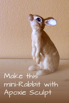 You can use Jonni's pattern to make this little Rabbit with Apoxie Sculpt Rabbit. The pattern makes it easy, and all instructions are included.